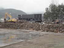 仮置き場である運動公園内の野球場も津波の被害にあいました。